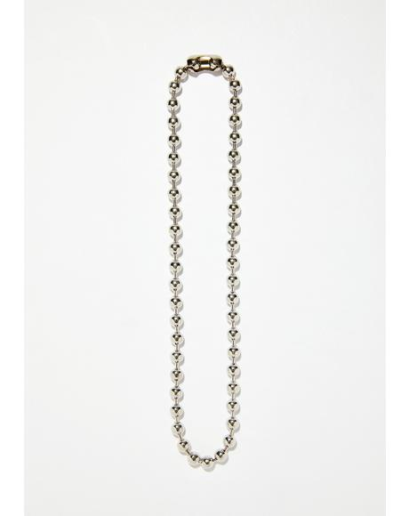 Small Talk Ball Chain Necklace
