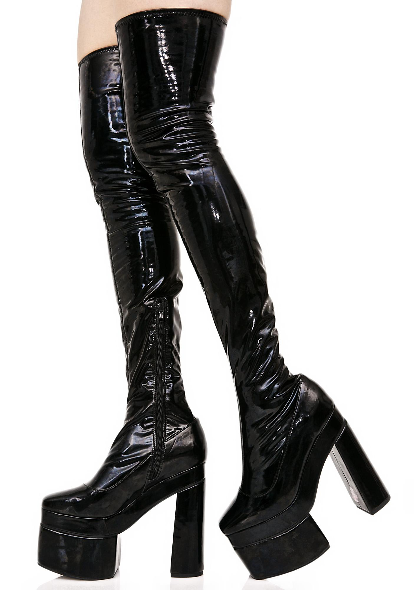 Sugar Thrillz Belladonna Thigh-High Boots