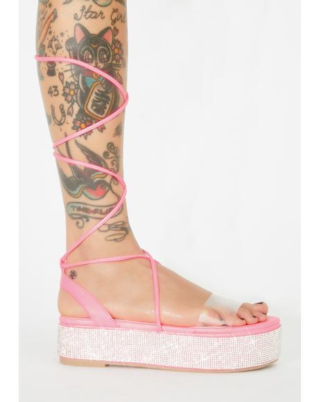 Miss Festie Glam Platform Sandals