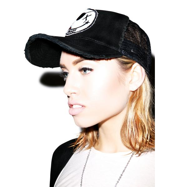 Lauren Moshi Jilly Enjoy Patch Trucker Hat