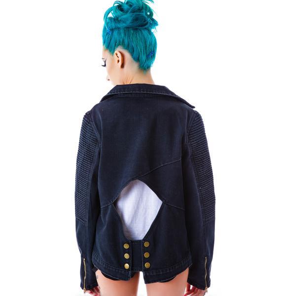 Casey Cut Out Denim Jacket
