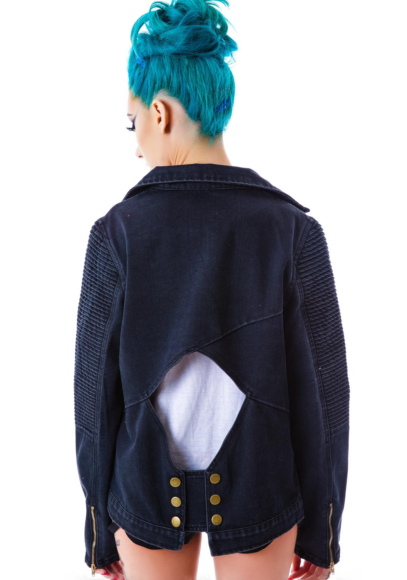 Casey Cut Out Denim Jacket