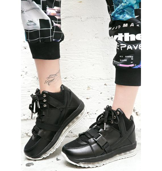 Y.R.U. Qozmo Aiire High Top Platform Sneakers