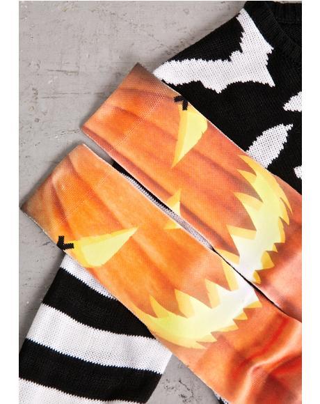 Jack O Lantern Socks