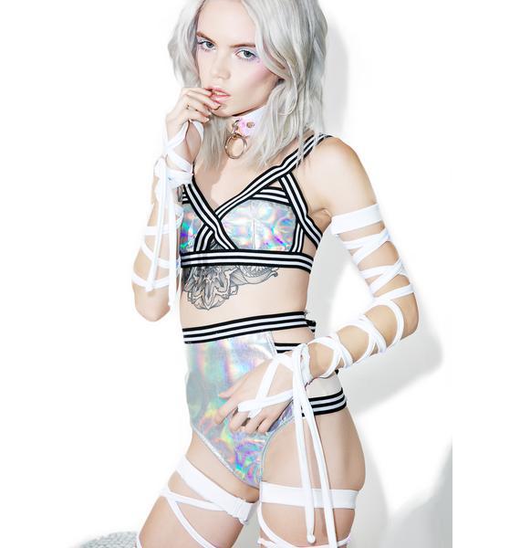 J Valentine White Hot Light-Up Arm Wraps