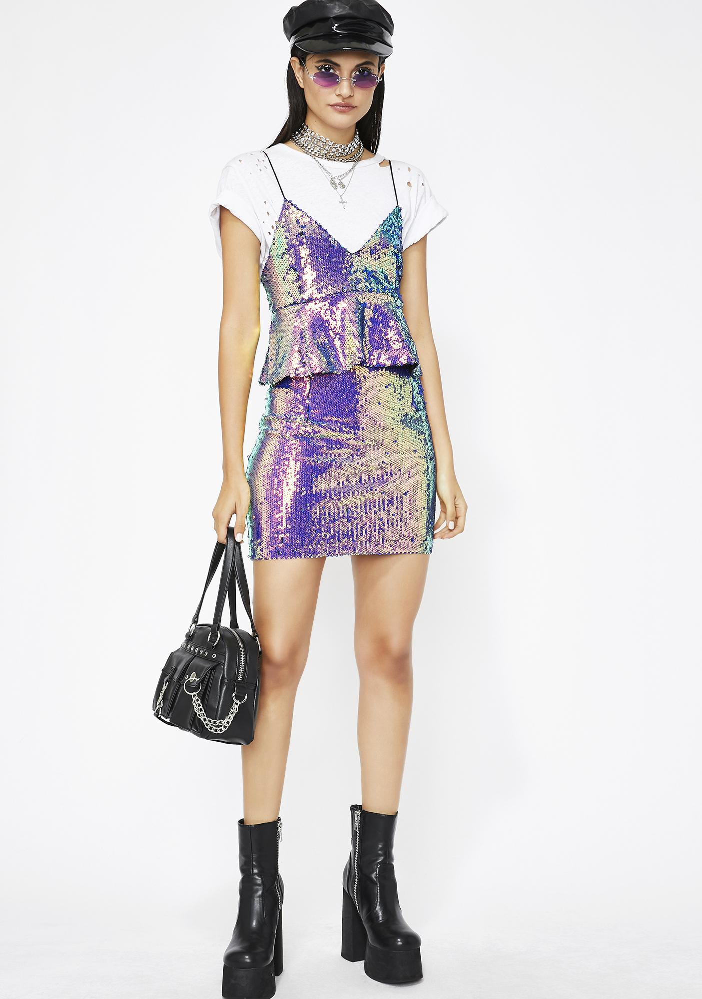 Cosmic Adventure Sequin Dress