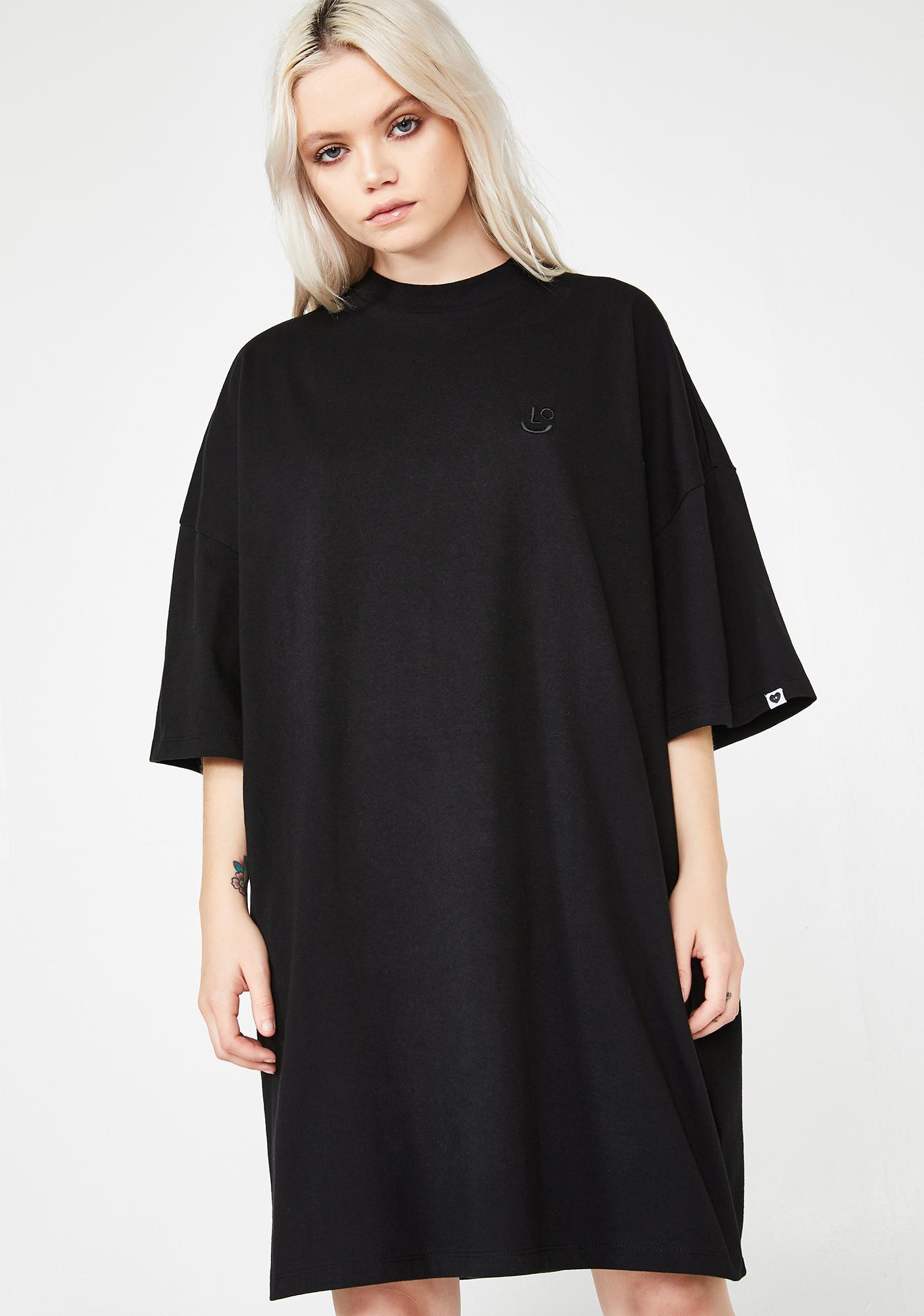 Lazy Oaf LO Black Midnight Dress