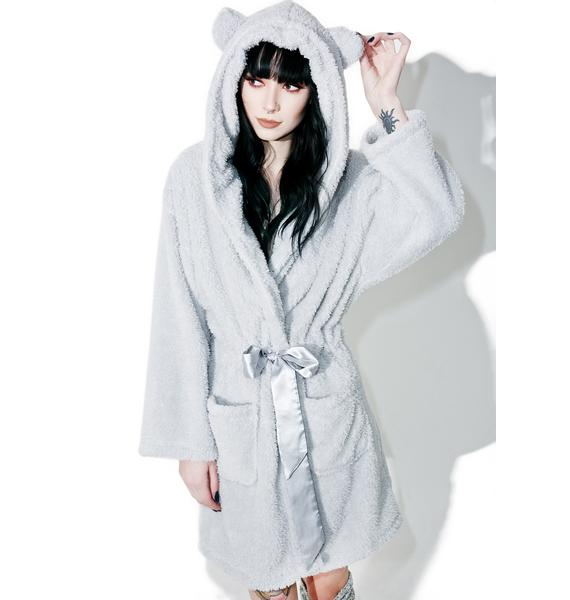 Lazy Cuddly Cub Fluffy Robe