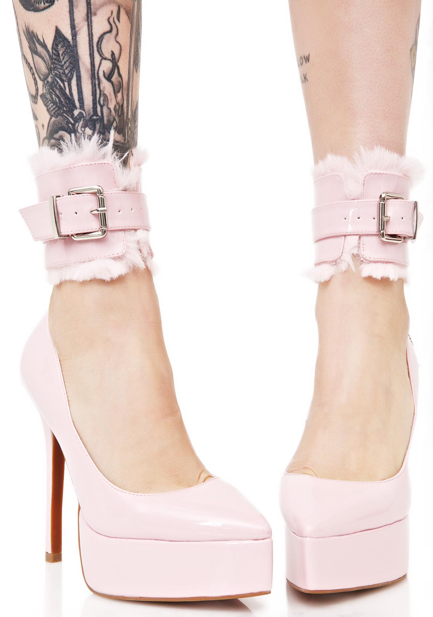 Sugar Thrillz Fuzzy Handcuff Heels
