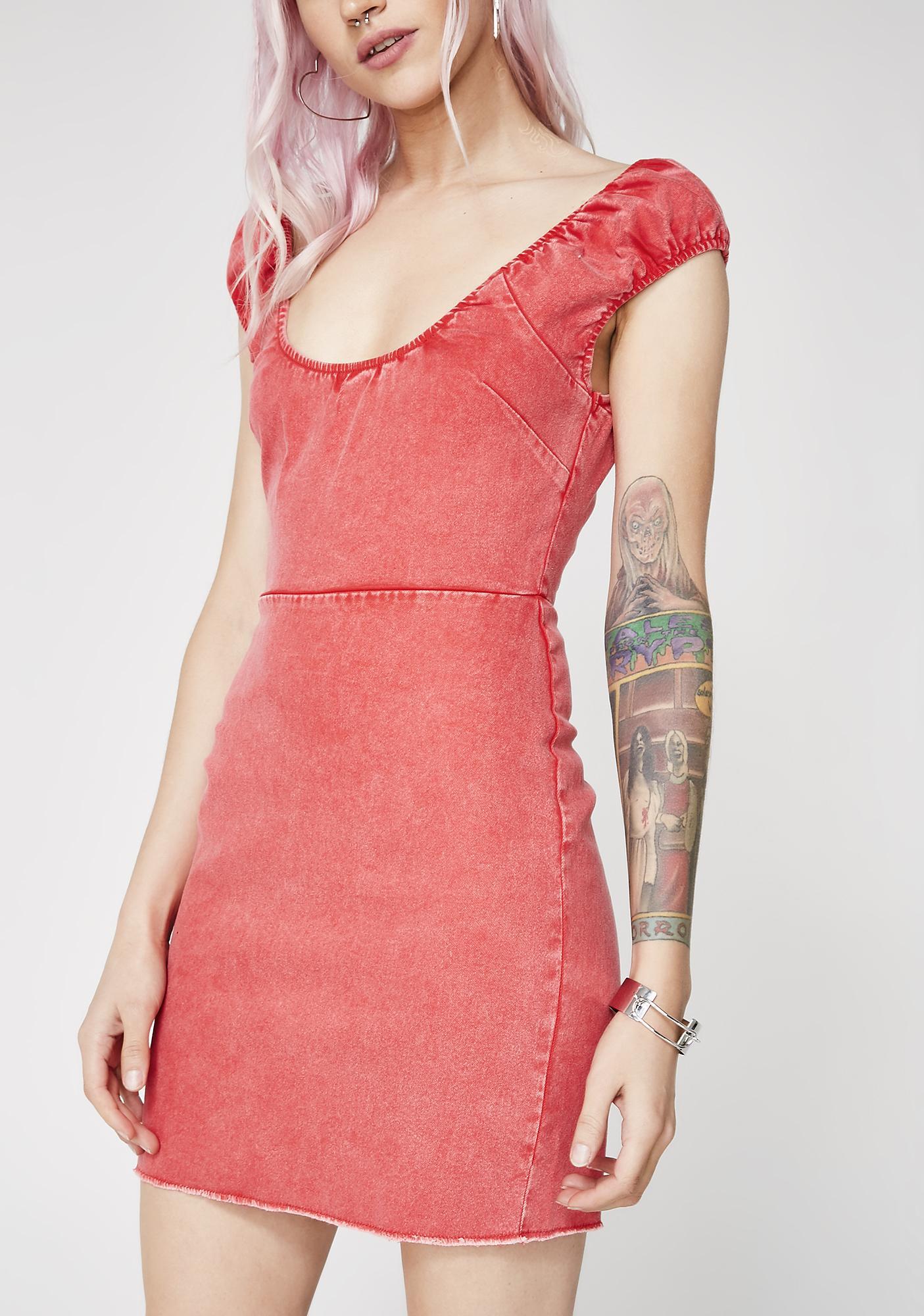 Keep A Secret Off-Shoulder Dress