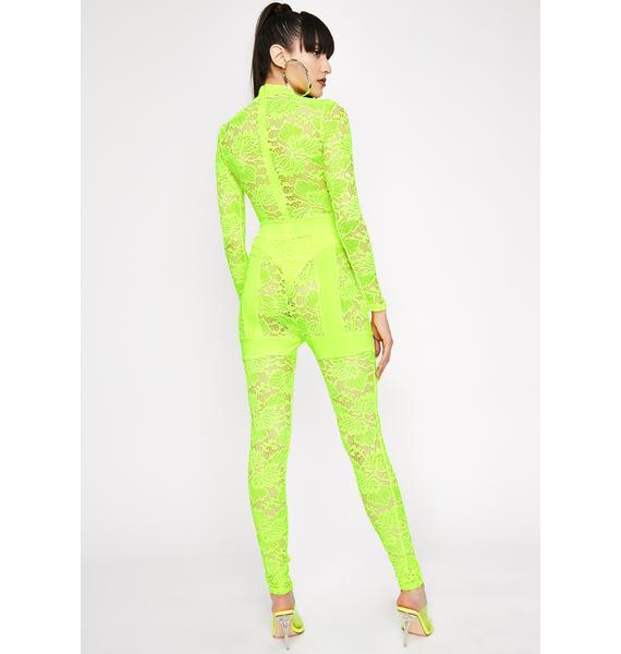 Electric Fifth Avenue Fever Lace Jumpsuit