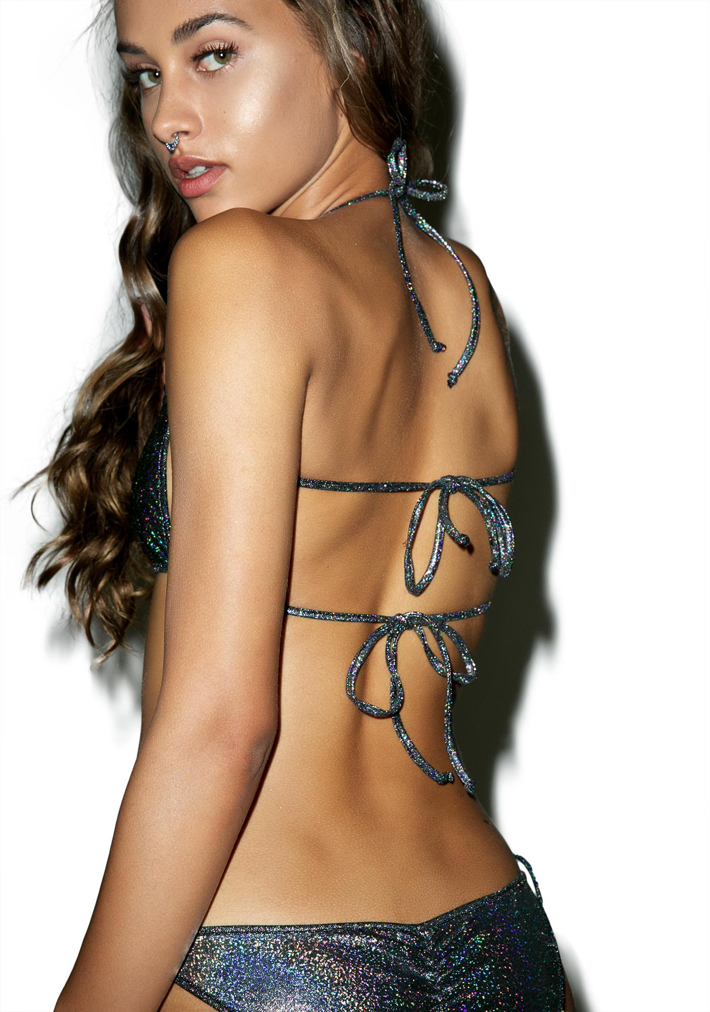 New Moves Holographic Strappy Bra
