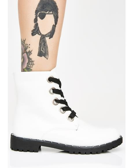 Combat Ready Lace-Up Boots