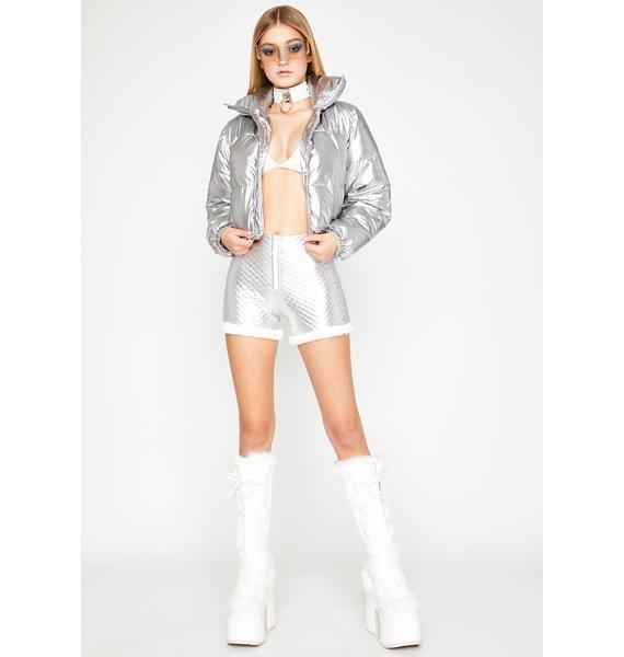 Shook Sad Gurl Hours Fur Trim Shorts