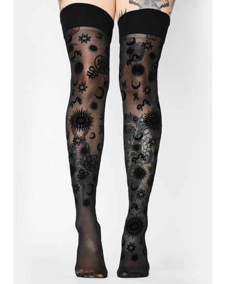 Believe In Magic Thigh Highs