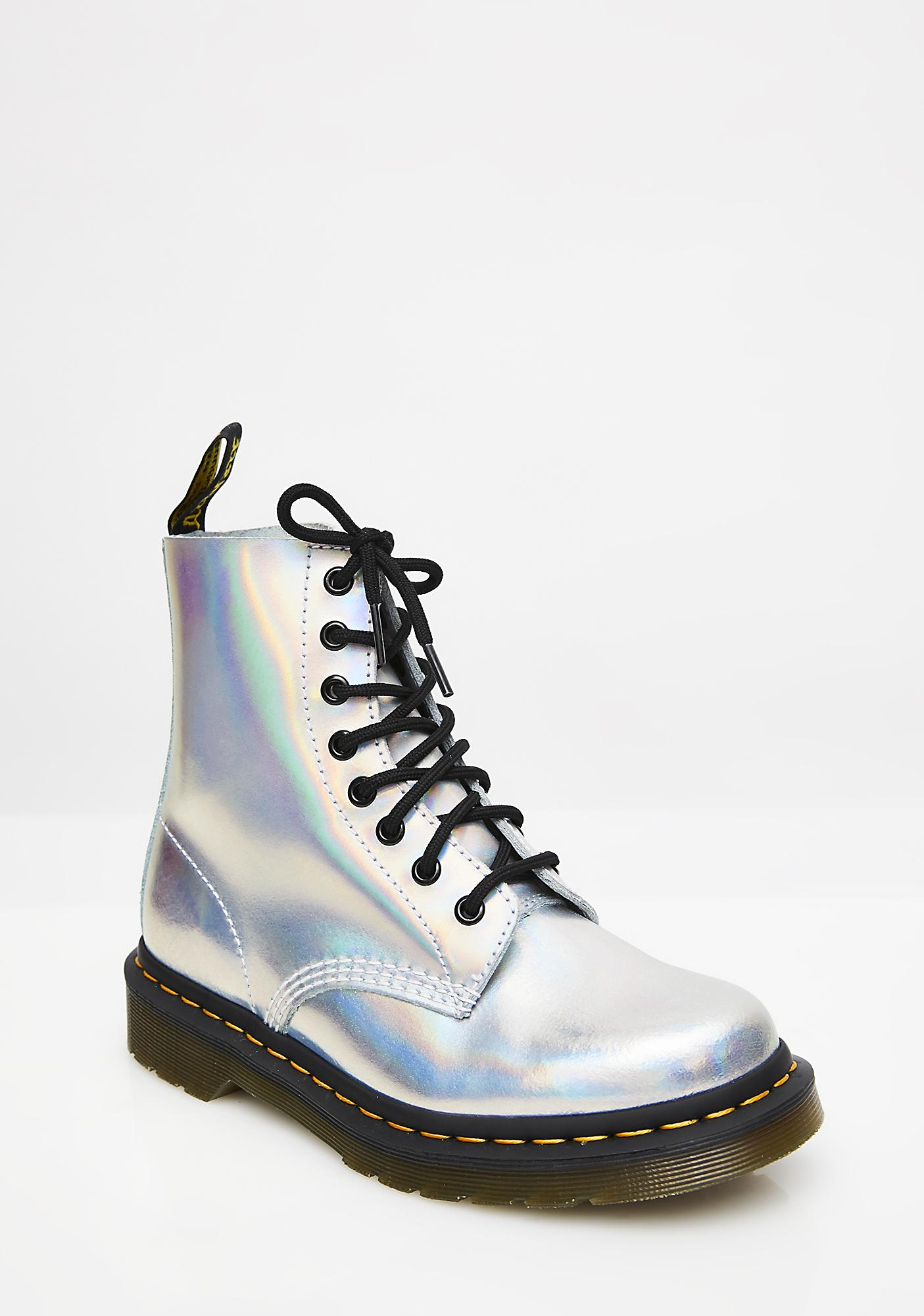 ... Dr. Martens Silver Iced Metallic Pascal Boots ... 5889af787cf7