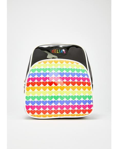 Rainbow Jam Patent Backpack