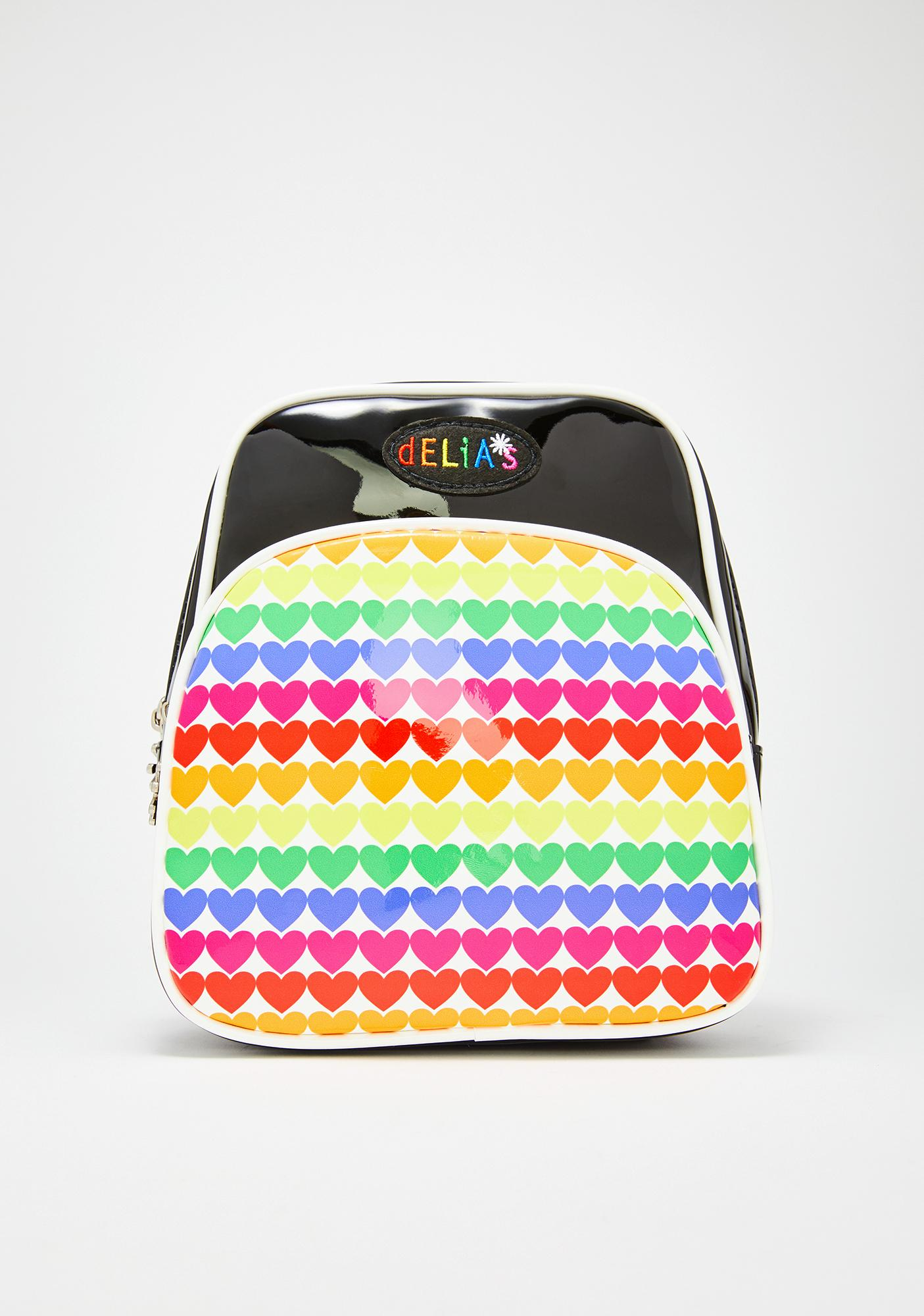 dELiA*s by Dolls Kill Rainbow Jam Patent Backpack