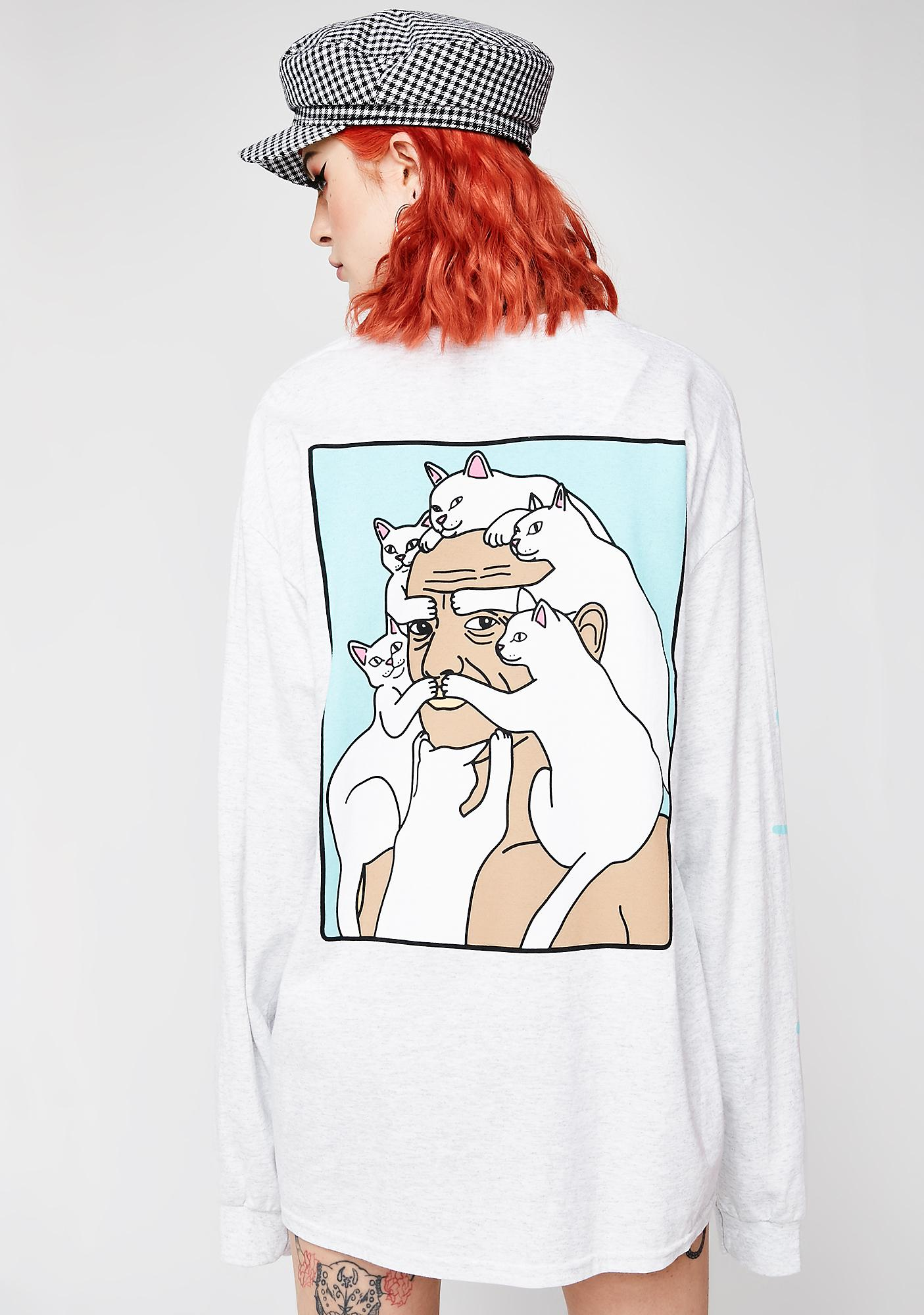 RIPNDIP Nerm Beard Long Sleeve Tee