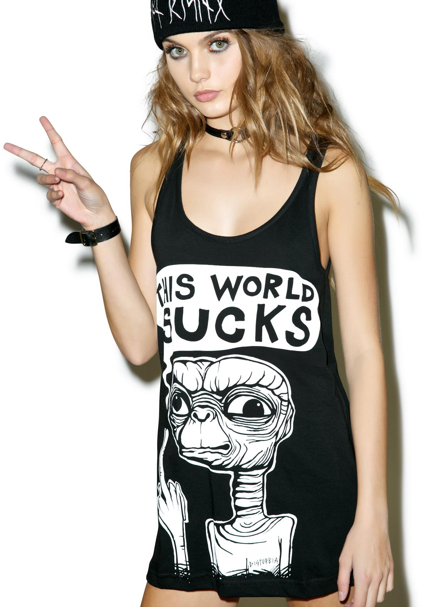 Disturbia This World Sucks Vest Dress