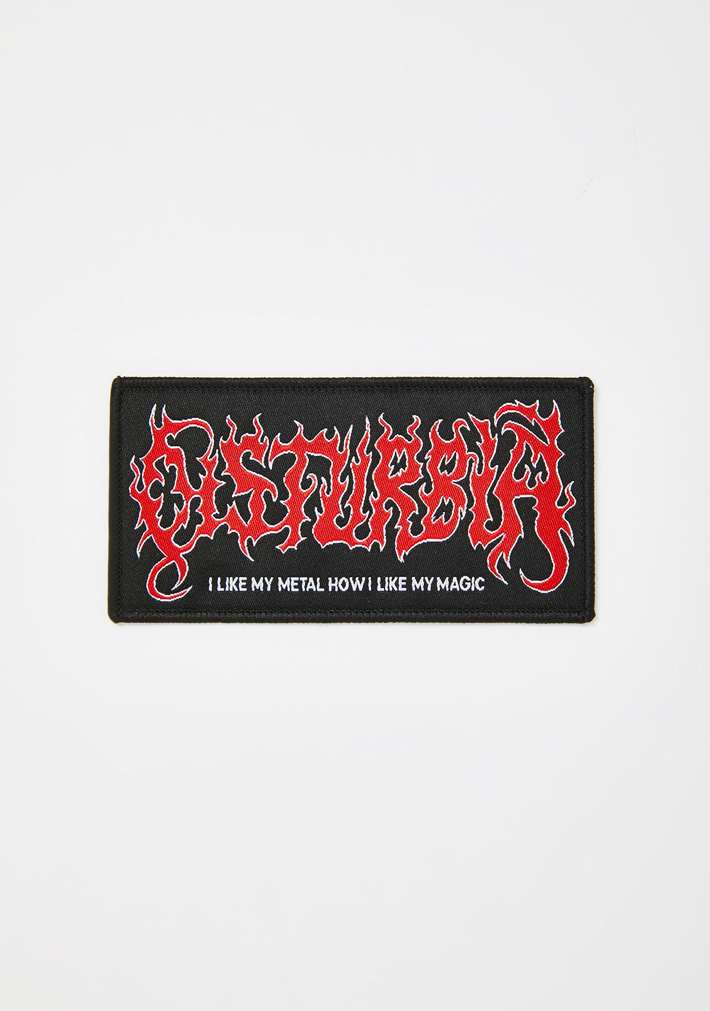 Disturbia Metal Logo Patch