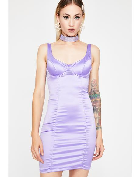 Lilac Vegas Satin Dress