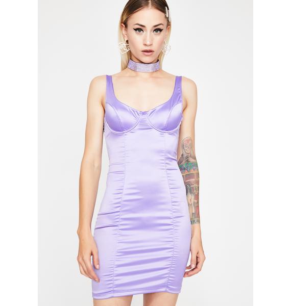 Lilac Vegas Satin Dress