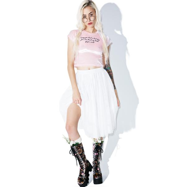 O Mighty Cheer Up Cropped Tee