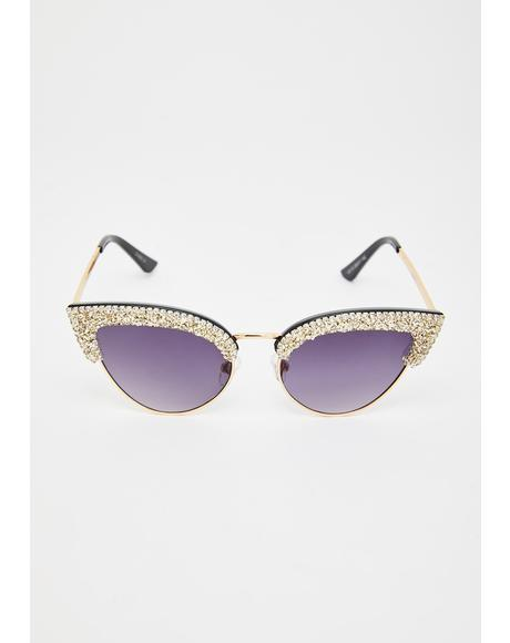 Bright Future Rhinestone Sunglasses