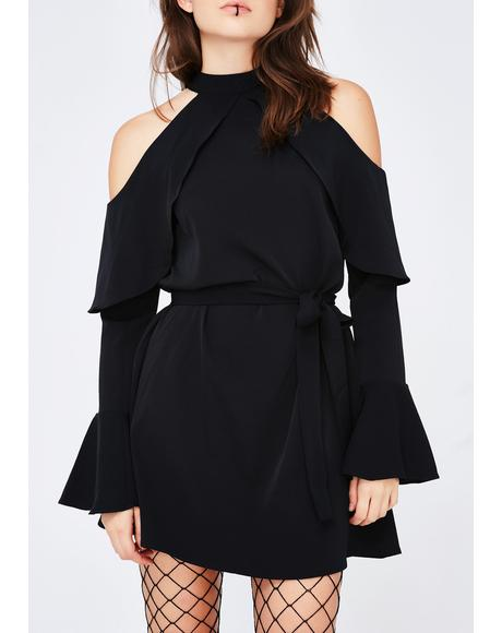 Main Idea Cold Shoulder Dress