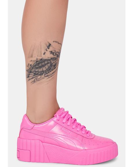 Pink Cali Wedge Platform Sneakers