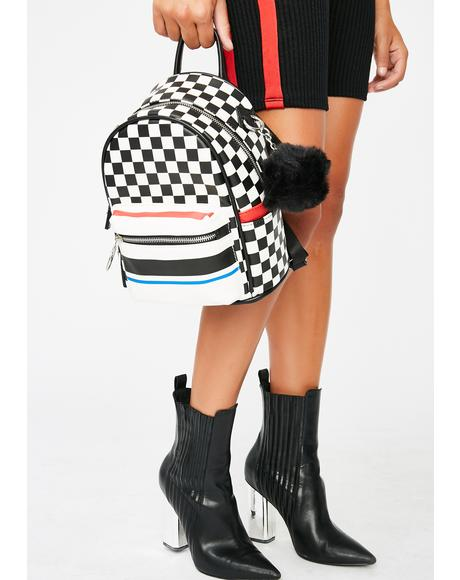 On Overdrive Checkered Backpack