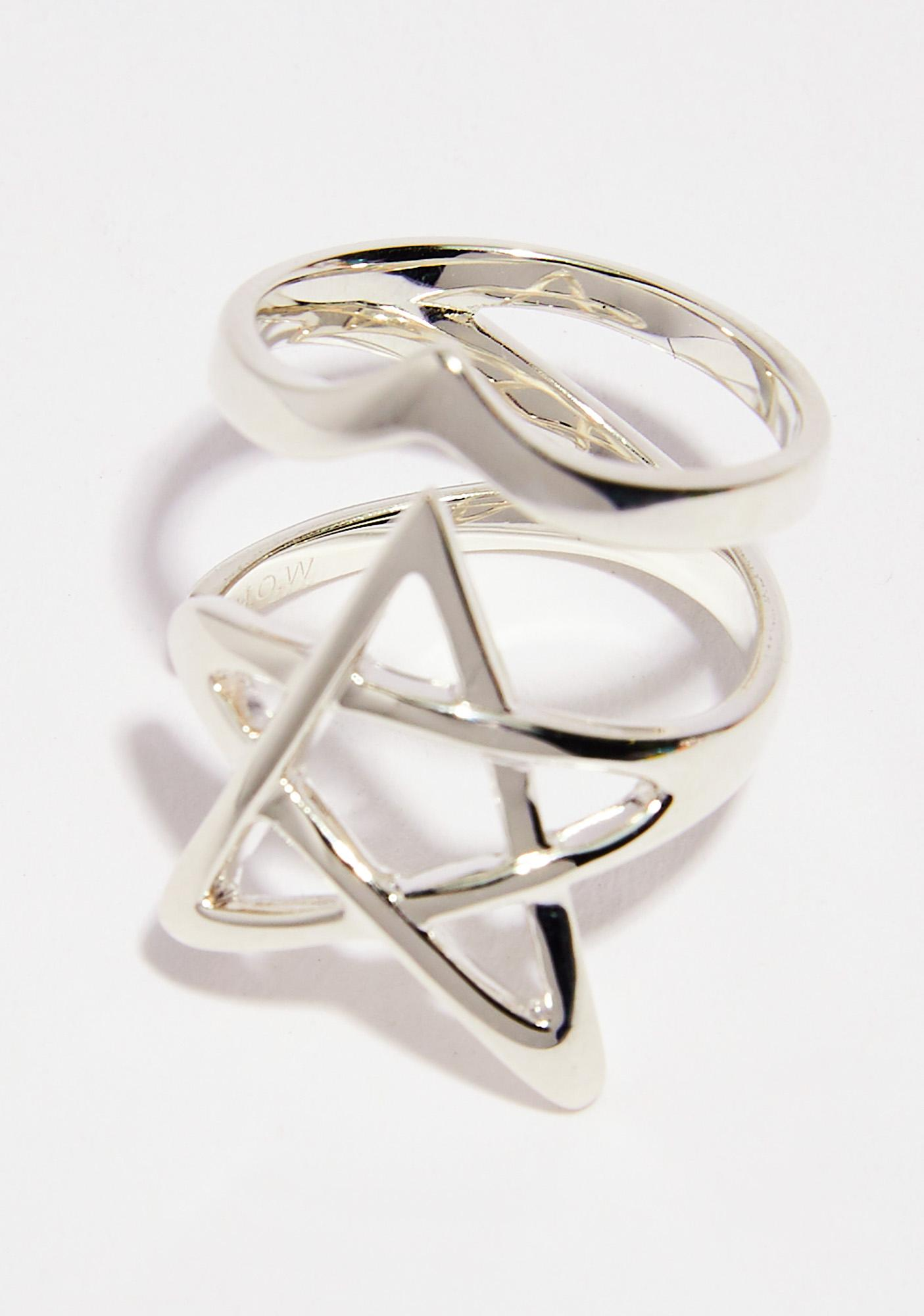 Disturbia Pentagram Ring
