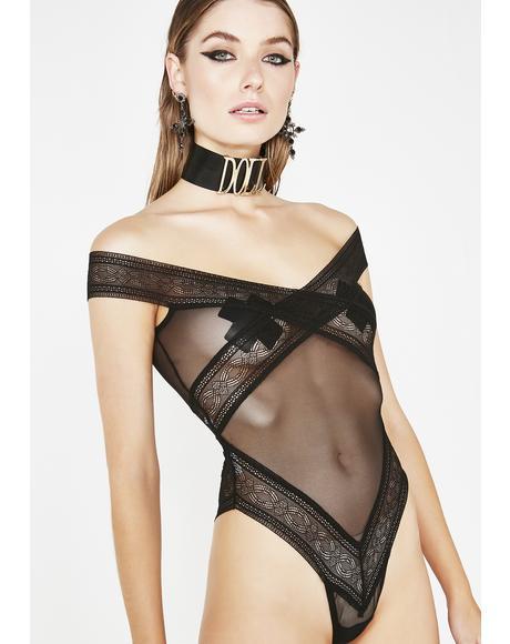 Law Of Attraction Sheer Bodysuit