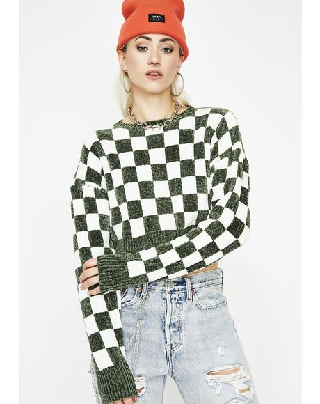 Rebel Rouser Checkered Sweater