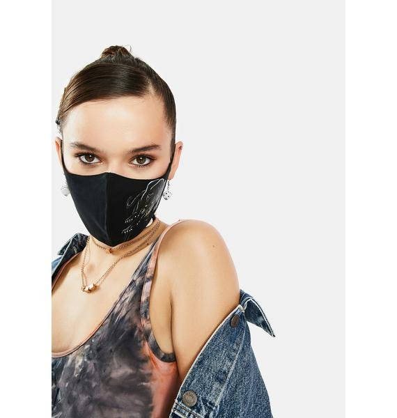 Ed Hardy Crouching Panther Face Mask
