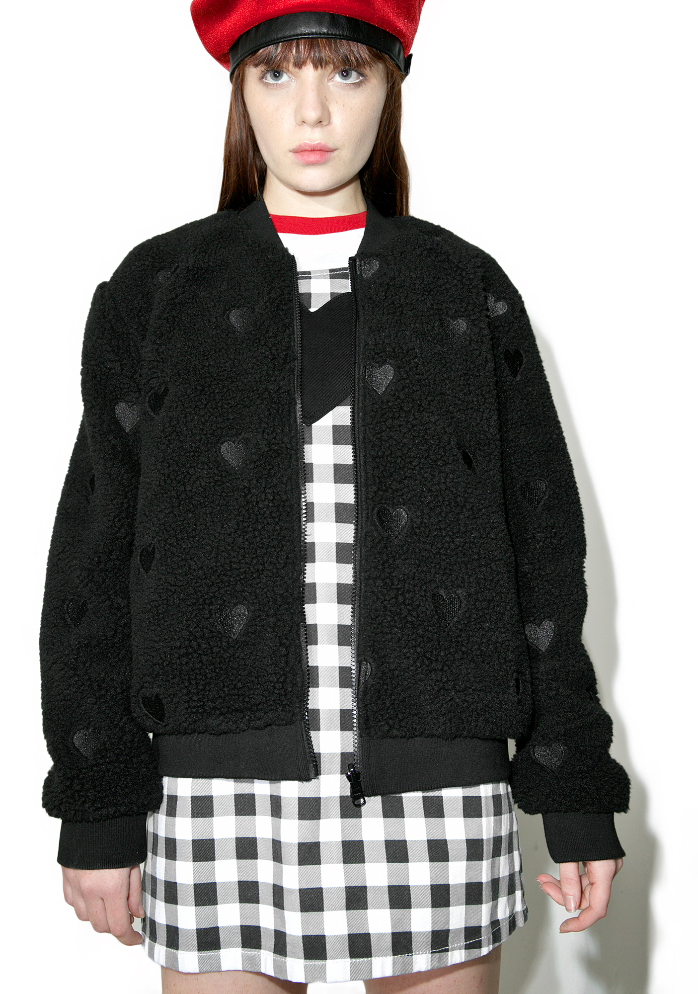 Lazy Oaf Fleecey Heart Bomber