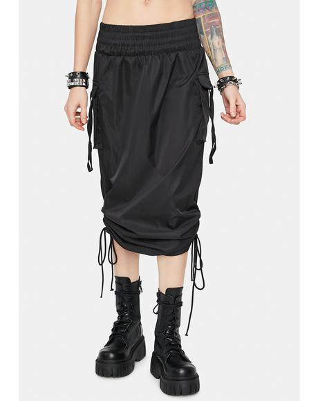 Dark Company Needed Cargo Midi Skirt