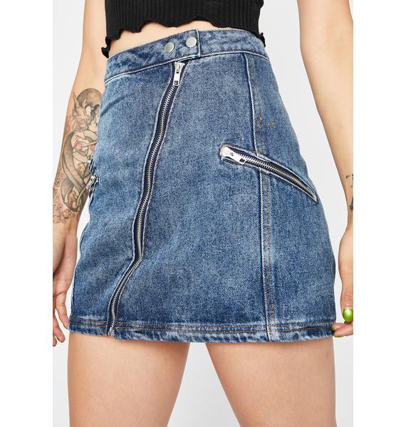 Road Rider Denim Skirt