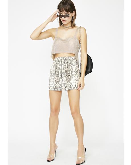 Sand Slitherin' Hottie Snakeskin Skirt