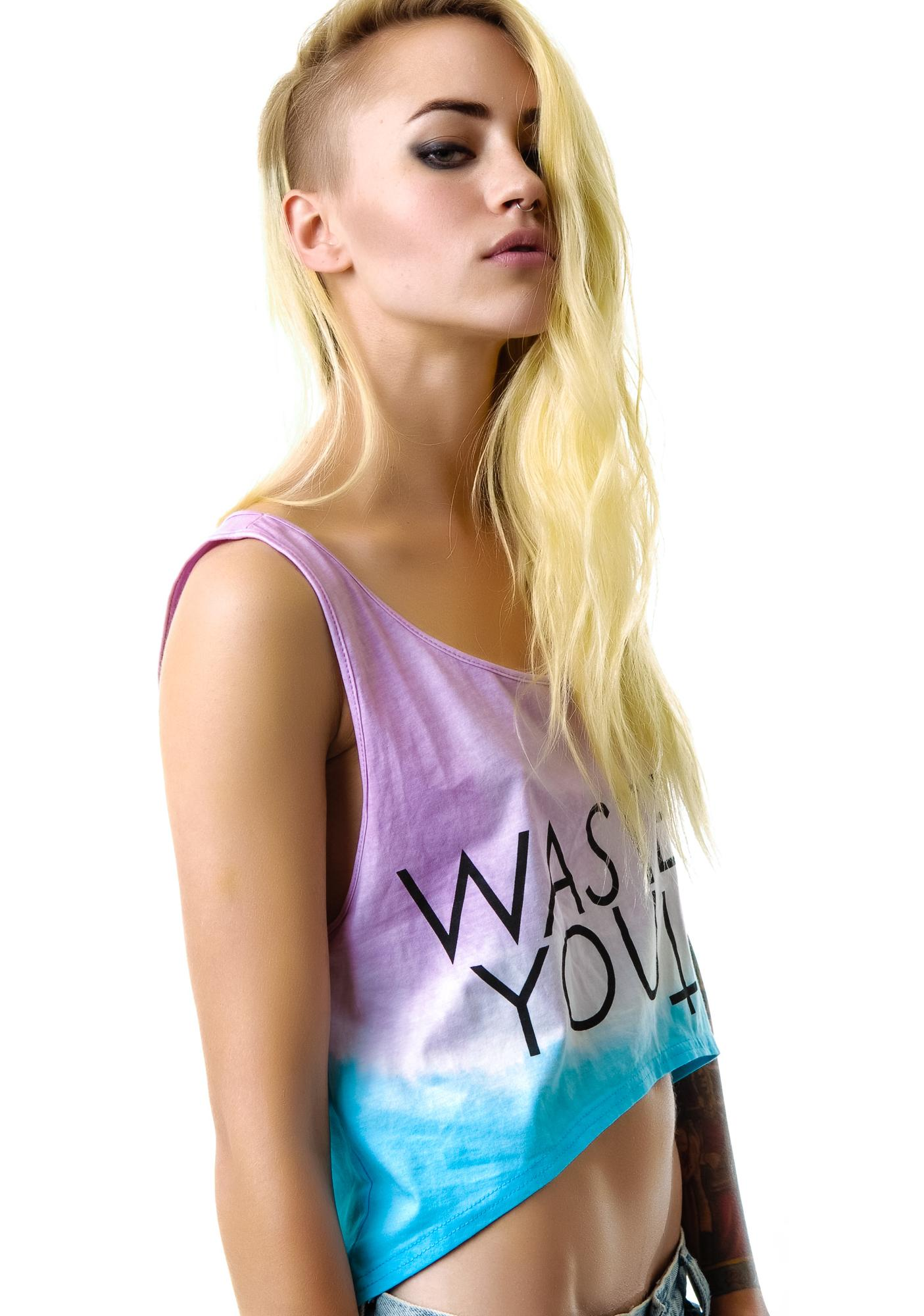 Wasted Youth Ombre Crop Tank