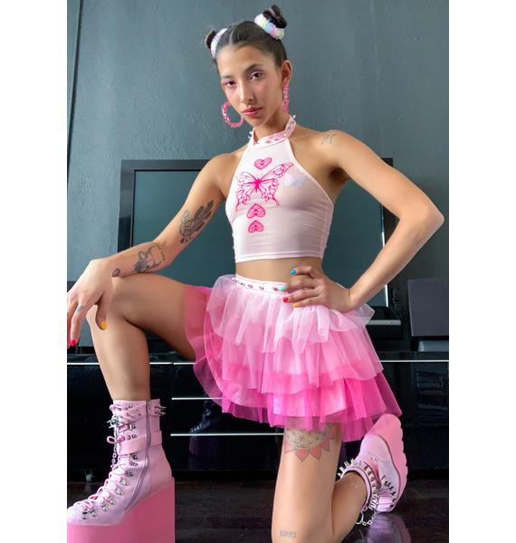 Sugar Thrillz Synth Spell Ruffle Skirt