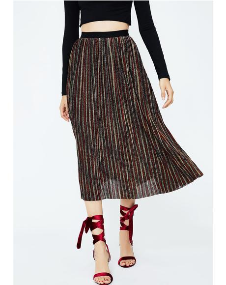 So Pleated Midi Skirt