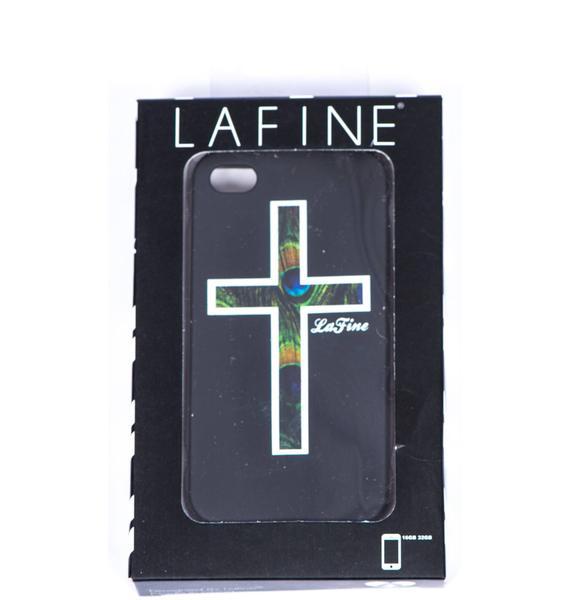 Lafine Peacock Cross iPhone Case