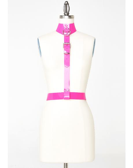 Bubble Gum Collar Harness