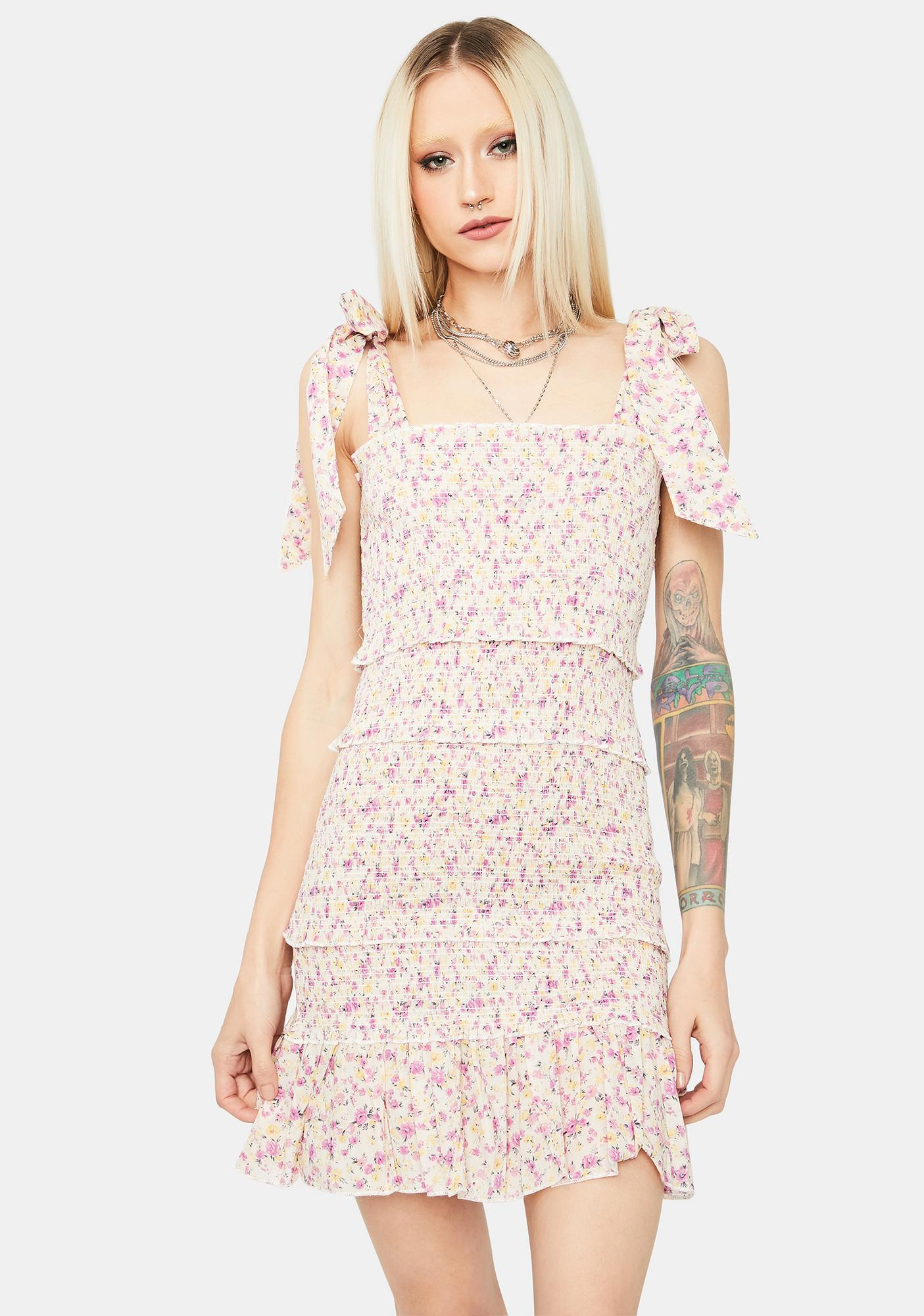 Fig Love What Matters Floral Mini Dress