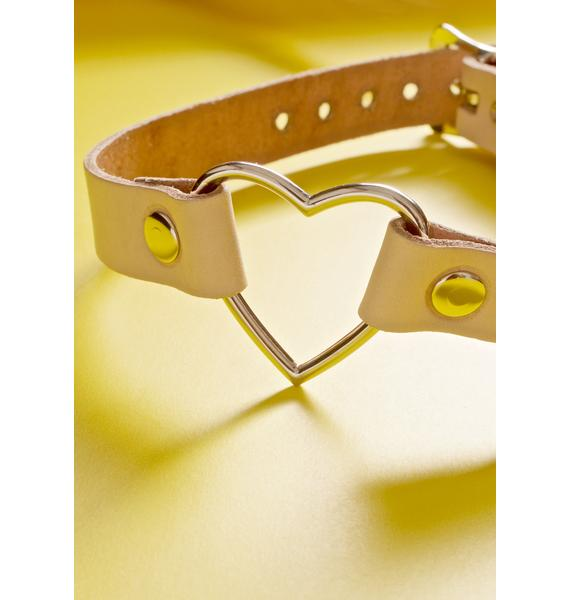 Club Exx Hermosa Heart O-Ring Choker