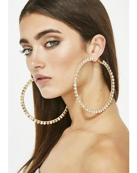Ring A Ding Ding Hoop Earrings