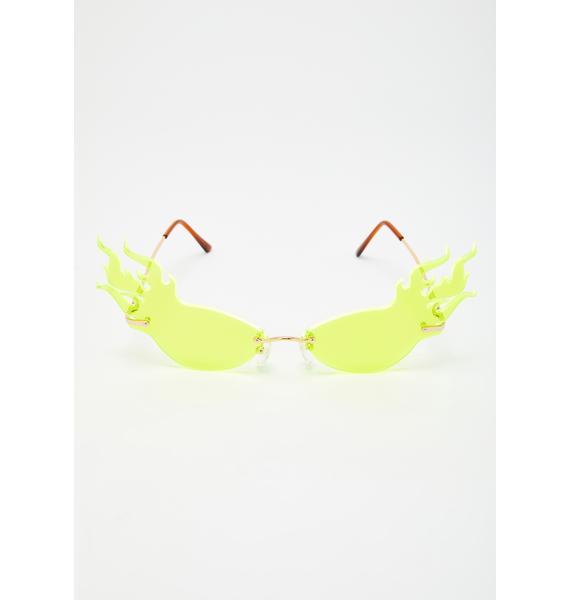 IWANTITALL Neon Fire Glasses