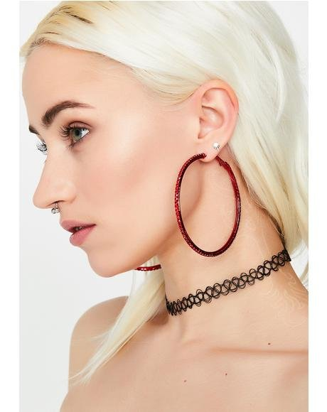 Spice Ice Cold Looks Hoop Earrings